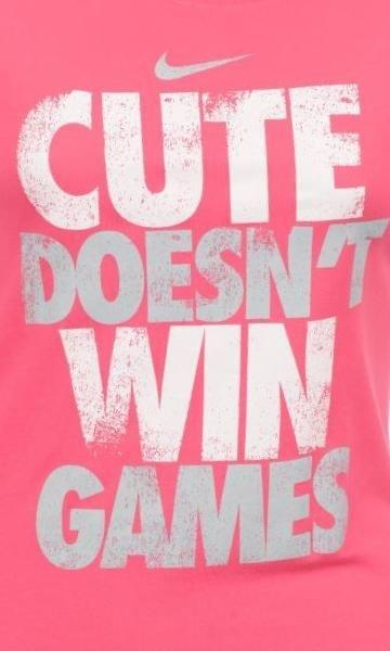 Cute doesn't win games Picture Quote #1