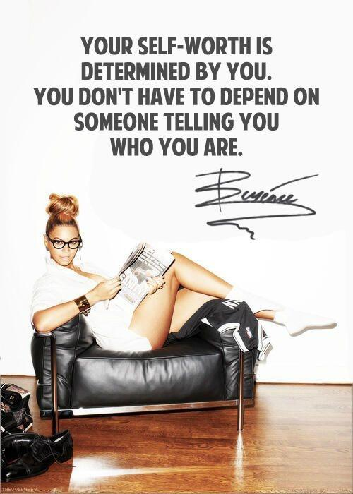 Your self-worth is determined by you. You don't have to depend on someone telling you who you are Picture Quote #1