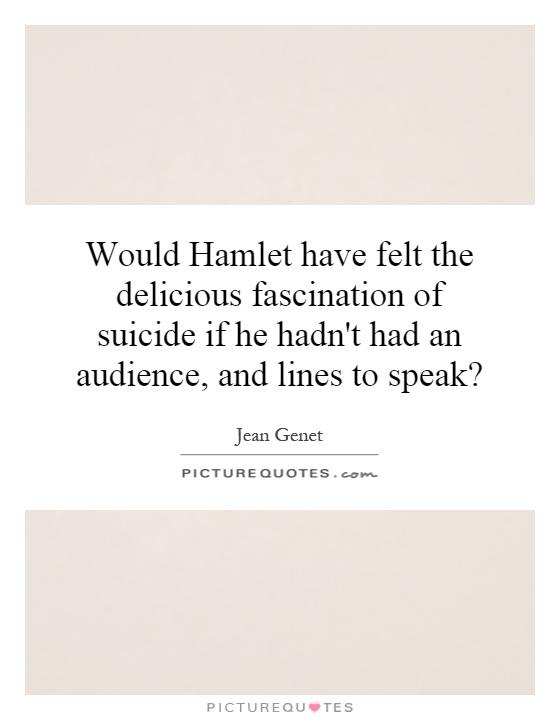 suicide soliloquy in hamlet essay