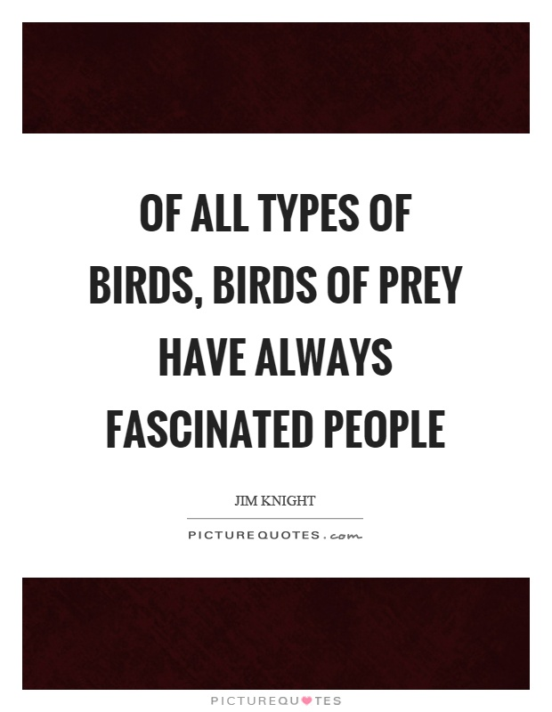 Of all types of birds, birds of prey have always fascinated people Picture Quote #1