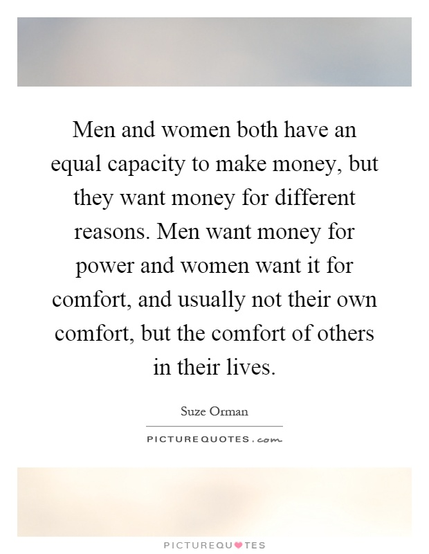 Women seeking man has money