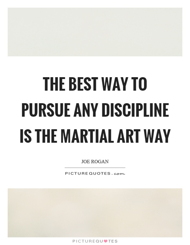 The best way to pursue any discipline is the martial art way Picture Quote #1
