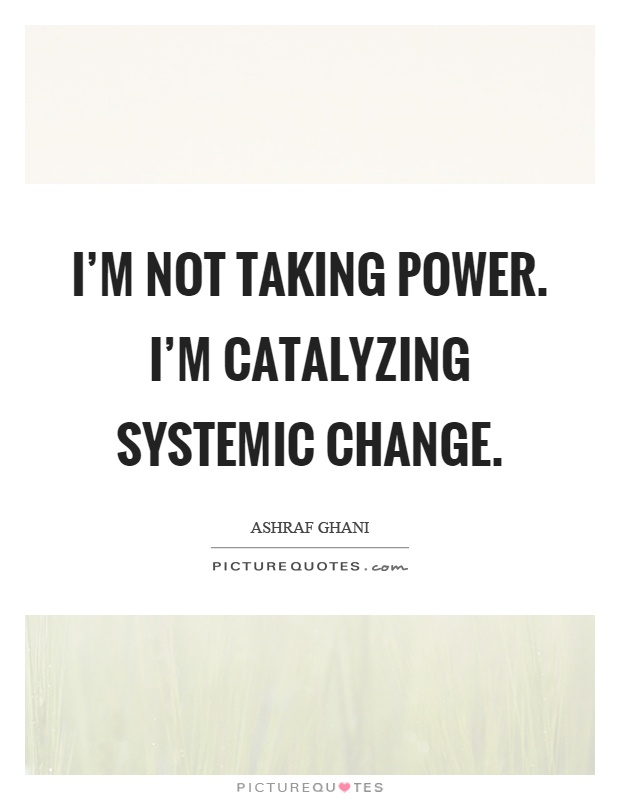 I'm not taking power. I'm catalyzing systemic change Picture Quote #1