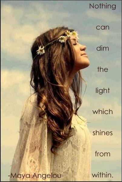 Nothing can dim the light which shines from within Picture Quote #1