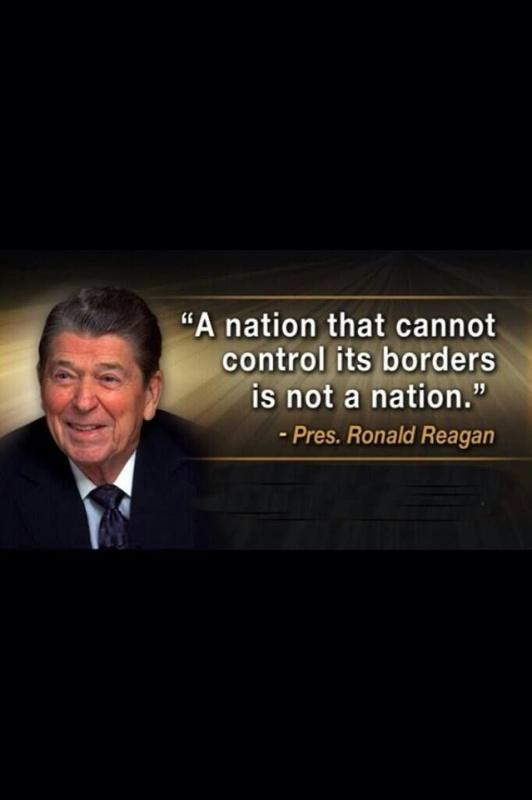 A nation that cannot control its borders is not a nation Picture Quote #1