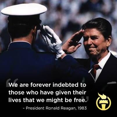 We are forever indebted to those who have given their lives that we might be free Picture Quote #1