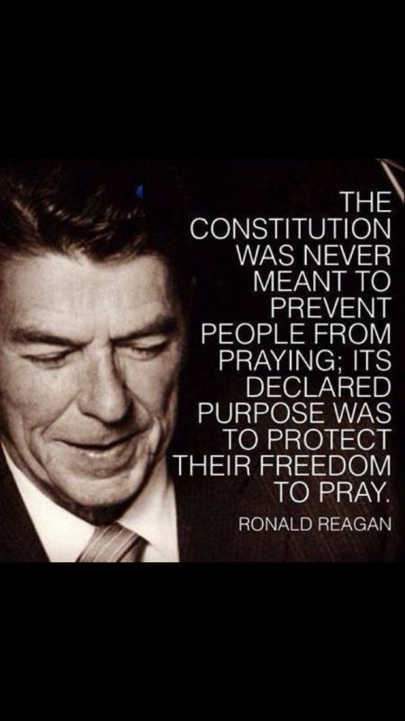 The Constitution was never meant to prevent people from praying, it's declared purpose was to protect their freedom to pray Picture Quote #1