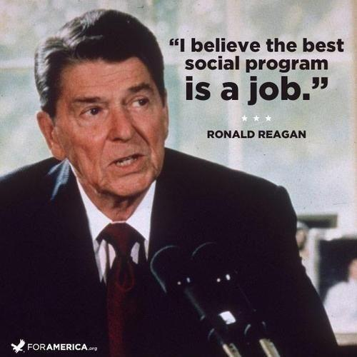 I believe the best social program is a job Picture Quote #1