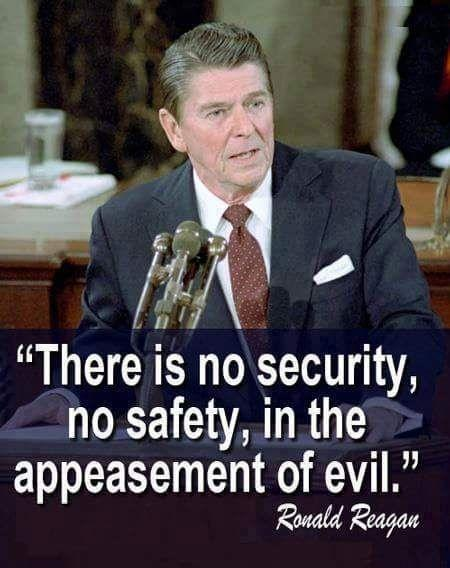 There is no security, no safety, in the appeasement of evil Picture Quote #1