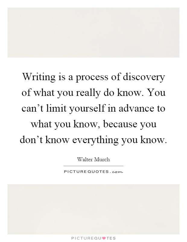 What do you know essay