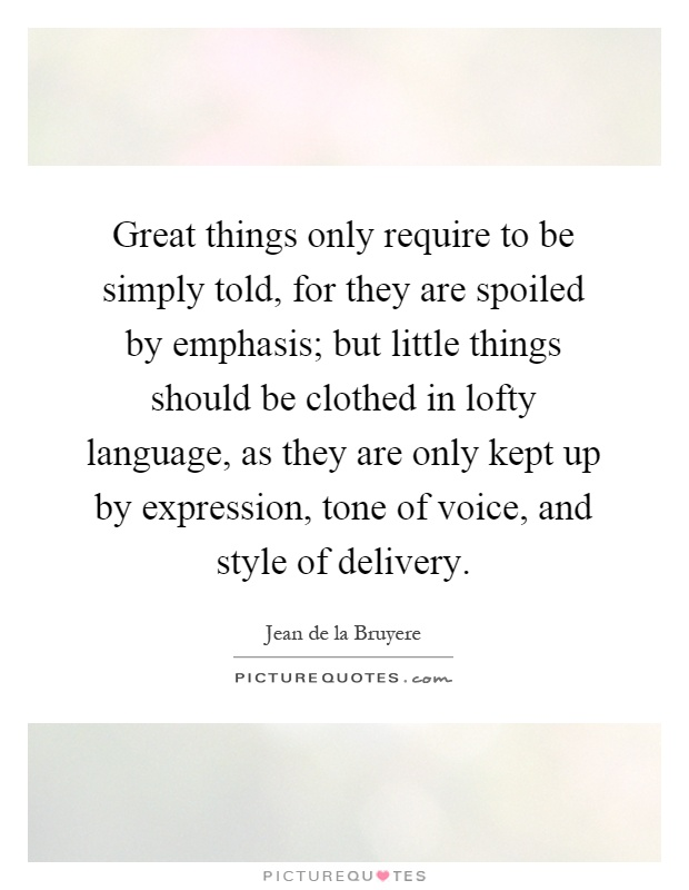 lofty language