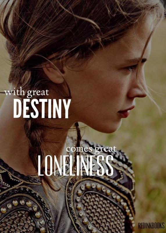With great destiny comes great loneliness Picture Quote #1