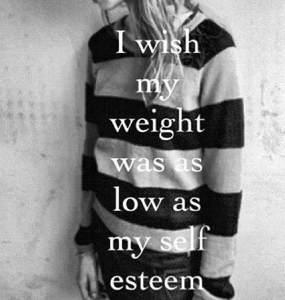 Quotes About Self Esteem Simple I Wish My Weight Was As Low As My Self Esteem  Picture Quotes