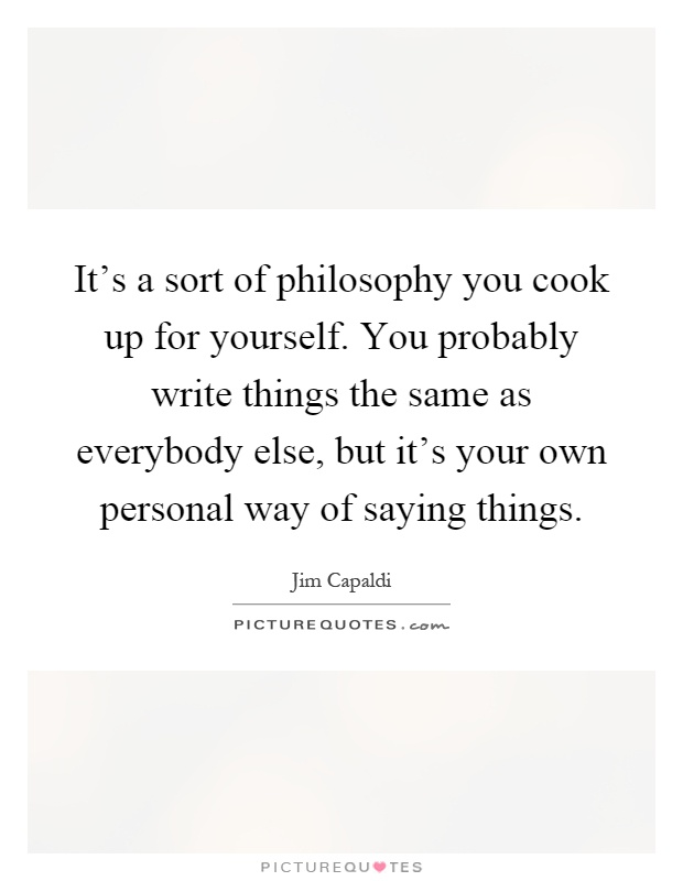 how to write about your own philosophy