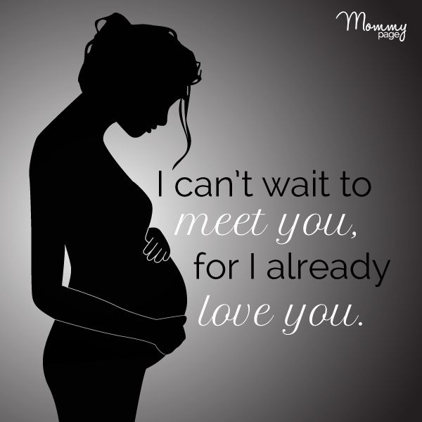 I can't wait to meet you, for I already love you Picture Quote #1