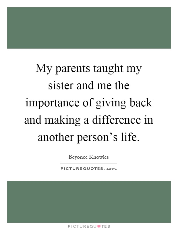 the importance of parents in a persons life The path to purpose: how young people find their calling in life [william  damon] on amazoncom  parents and teachers should read this important  book.