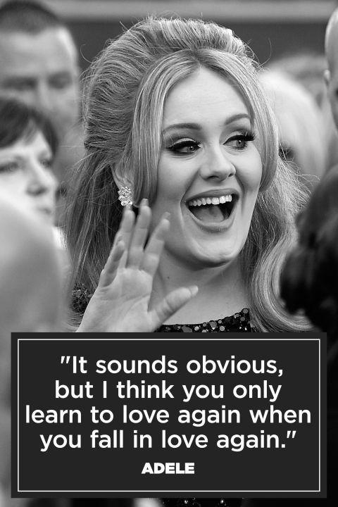 It sounds obvious but I think you only learn to love again when you fall in love again Picture Quote #1