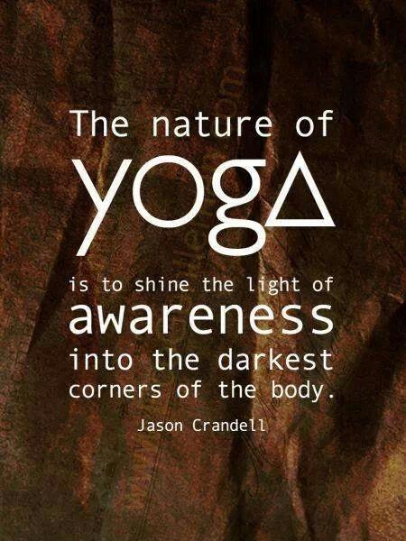 The nature of yoga is to shine the light of awareness into the darkest corners of the body Picture Quote #1