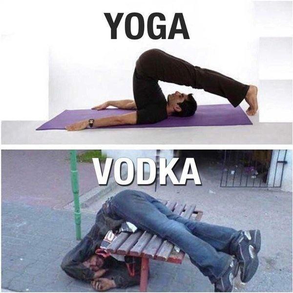 Yoga. Vodka Picture Quote #1