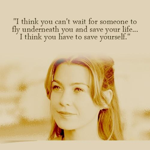 I think you can't wait for someone to fly underneath you and save your life. I think you need to save yourself Picture Quote #2