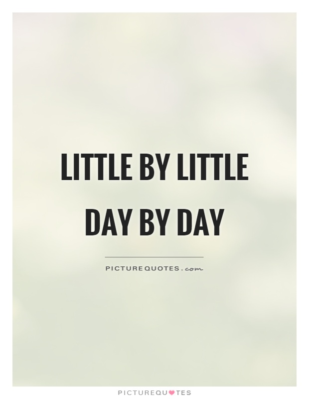 Little by little Day by day Picture Quote #1