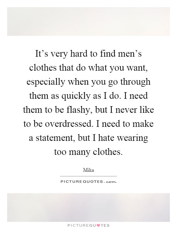 I want to buy clothes online