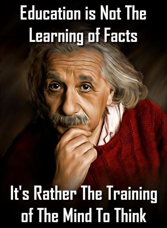 Education is not learning the facts, it's rather the training of the mind to think Picture Quote #1