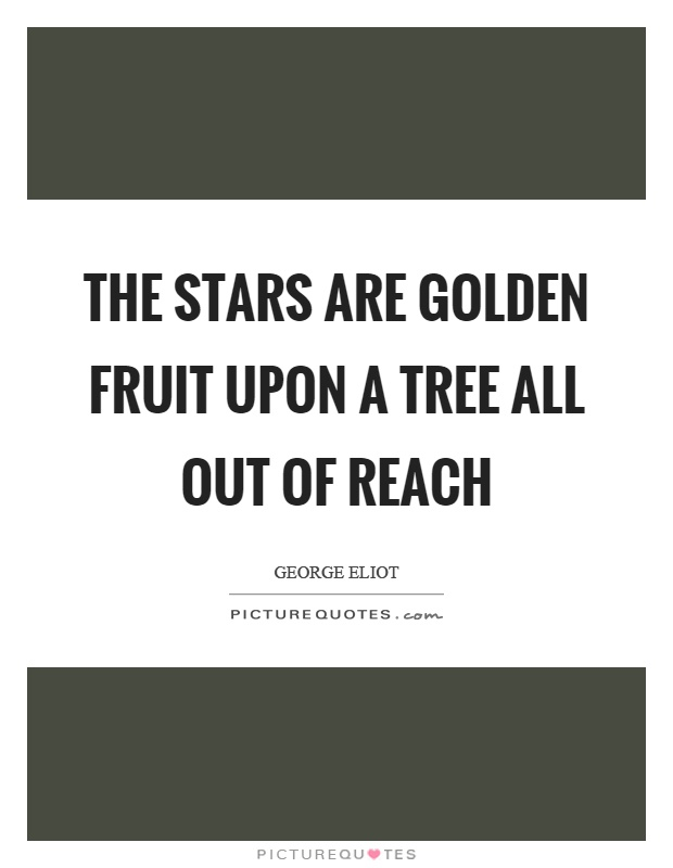 The stars are golden fruit upon a tree all out of reach Picture Quote #1