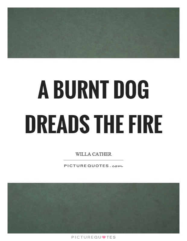 A burnt dog dreads the fire Picture Quote #1