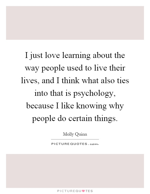 what psychology is to me