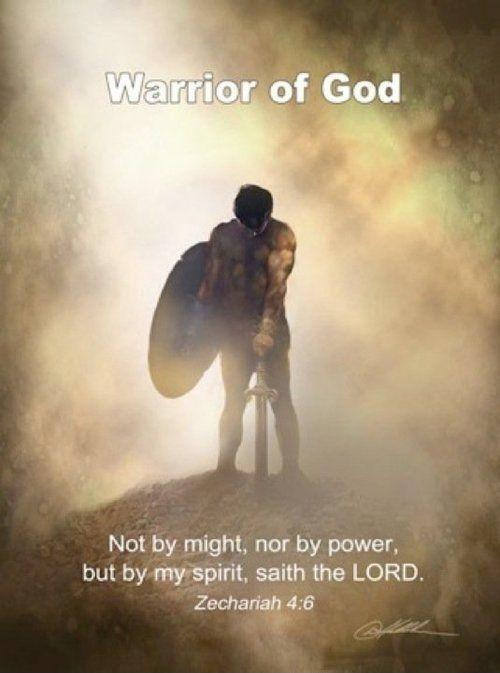 Warrior of God. Not by spirit, nor by power, but by my spirit, saith the Lord Picture Quote #1