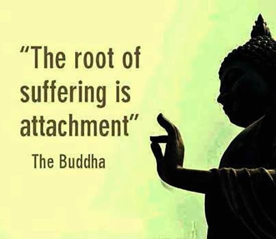 The root of suffering is attachment Picture Quote #1