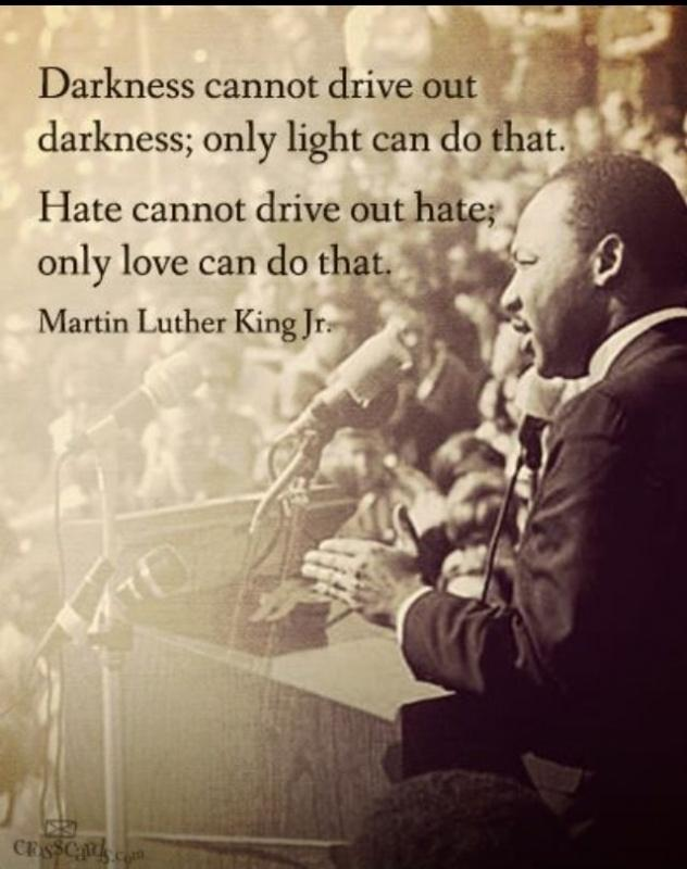 Darkness cannot drive out darkness: only light can do that; Hate cannot drive out hate; only love can do that Picture Quote #1