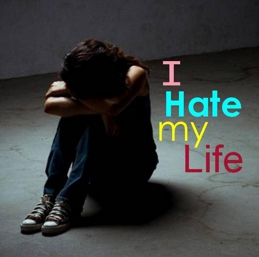 I hate my life Picture Quote #1