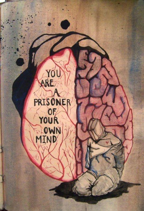 You are a prisoner of your own mind Picture Quote #1