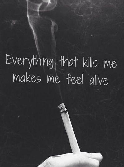Everything that kills me makes me feel alive Picture Quote #1