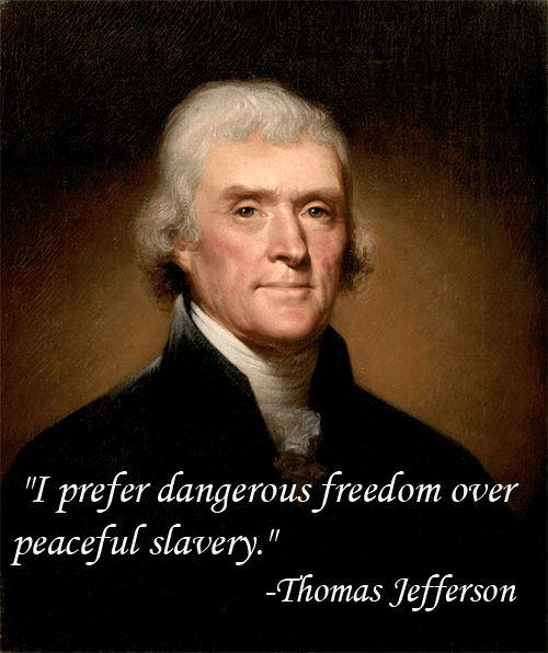 I prefer dangerous freedom over peaceful slavery Picture Quote #1