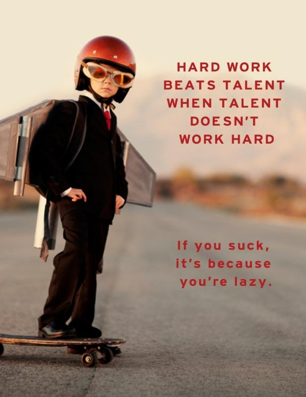 Hard work beats talent when talent doesn't work hard Picture Quote #1