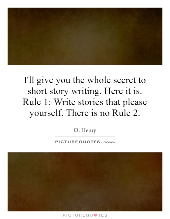 I want to write a short story