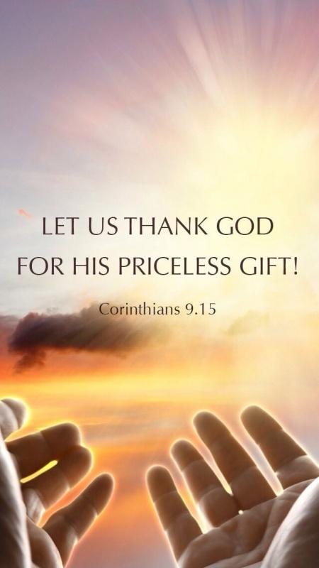Let us thank God for his priceless gift Picture Quote #1