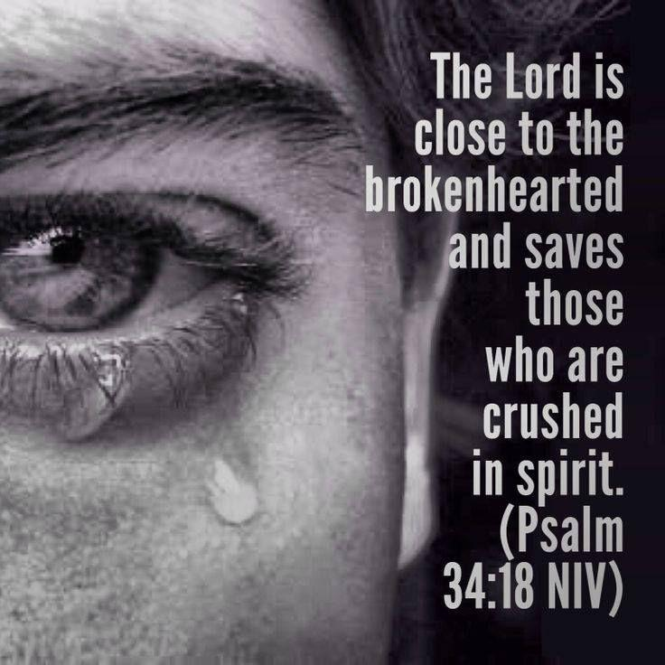 The Lord is close to the broken hearted and saves those who are crushed in spirit Picture Quote #1