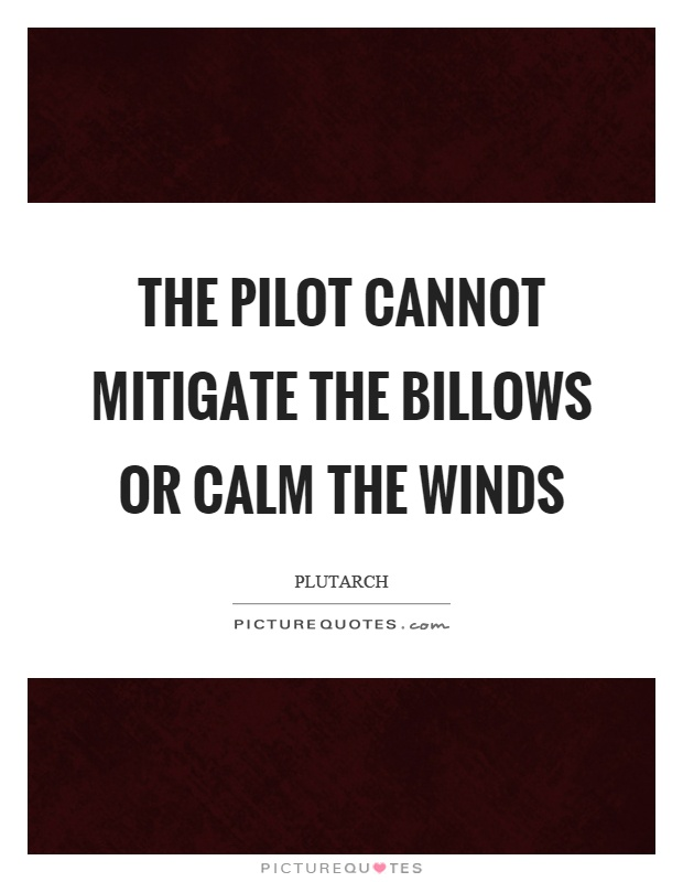 The pilot cannot mitigate the billows or calm the winds Picture Quote #1
