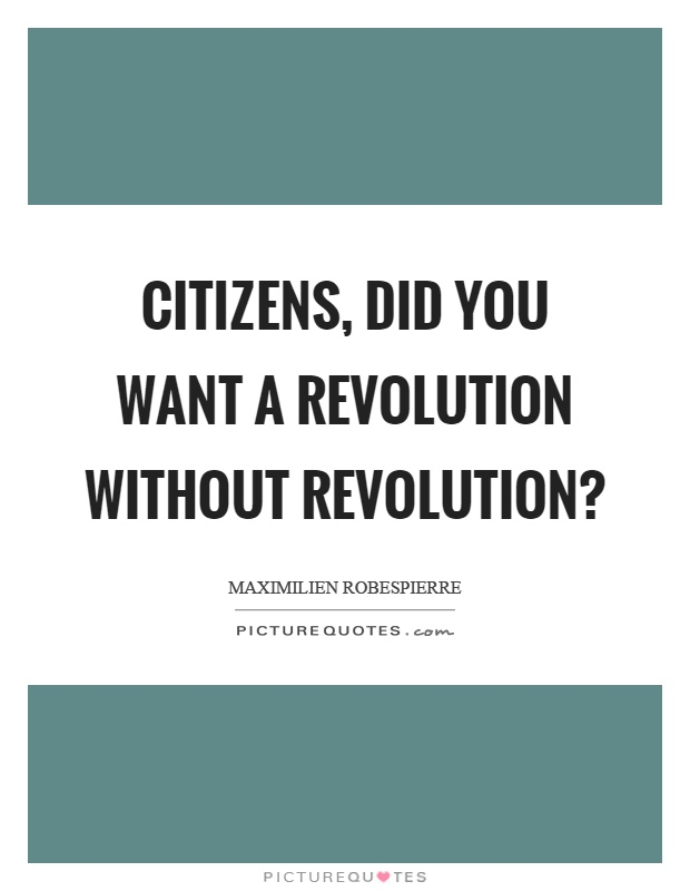 Citizens, did you want a revolution without revolution? Picture Quote #1