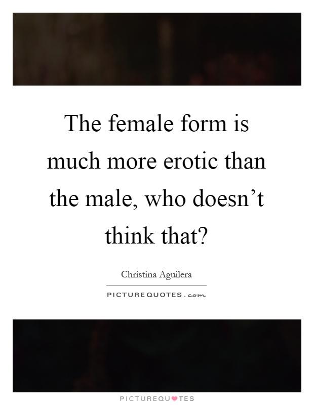The erotic female form