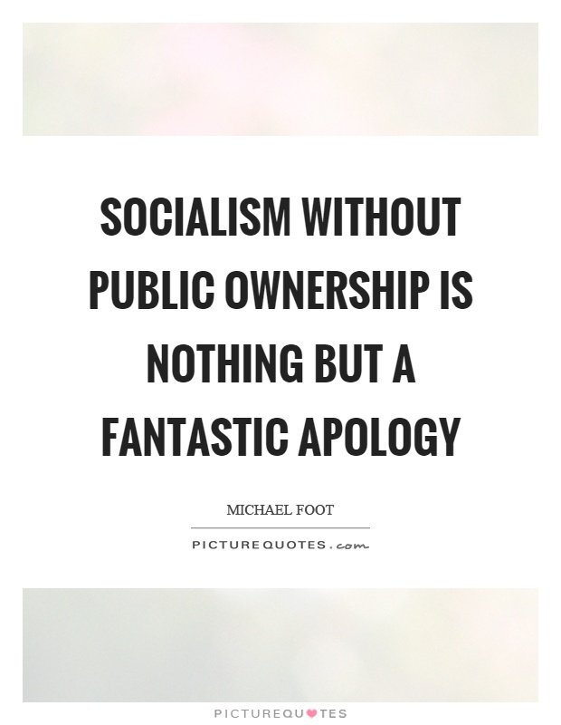 Socialism without public ownership is nothing but a fantastic apology Picture Quote #1
