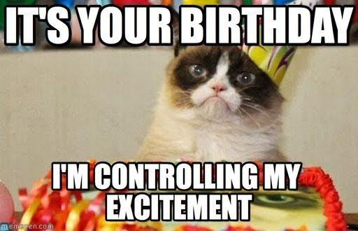 It's your birthday, I'm controlling my excitment Picture Quote #1