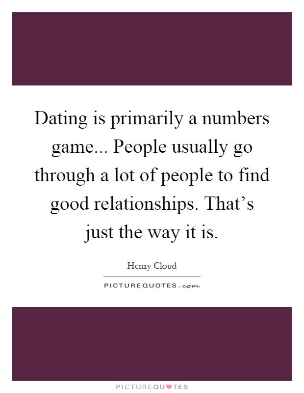 Is dating really a numbers game
