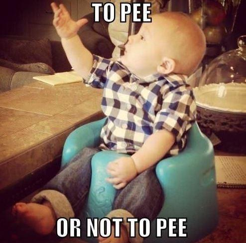 To pee or not to pee Picture Quote #1