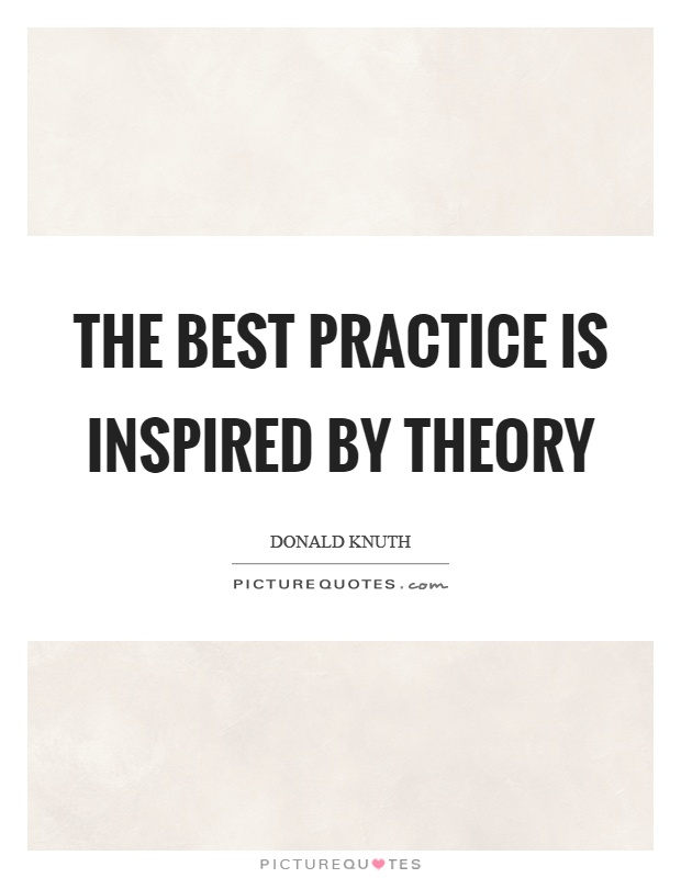 The best practice is inspired by theory Picture Quote #1