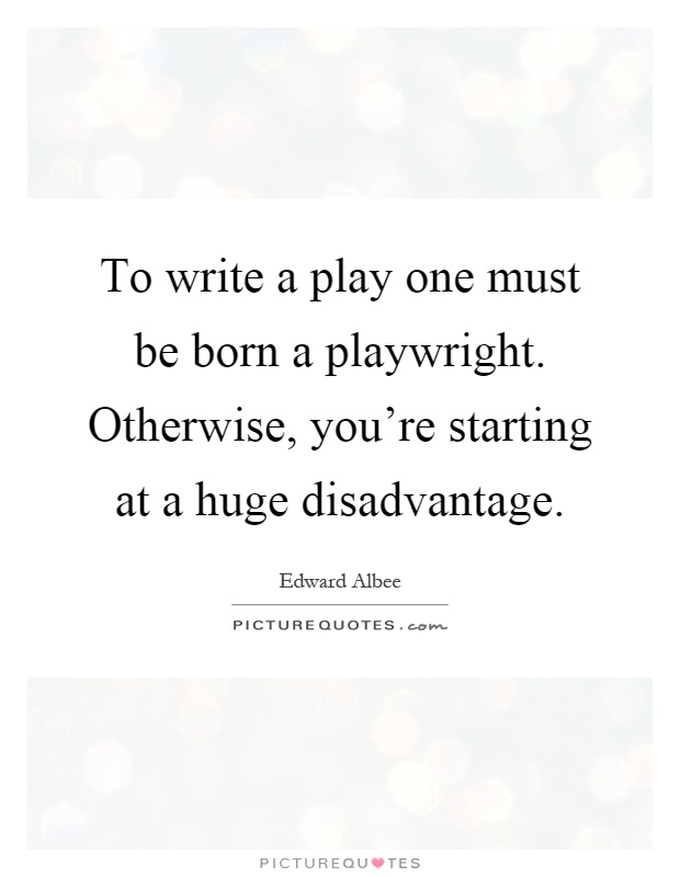How to write a playwright